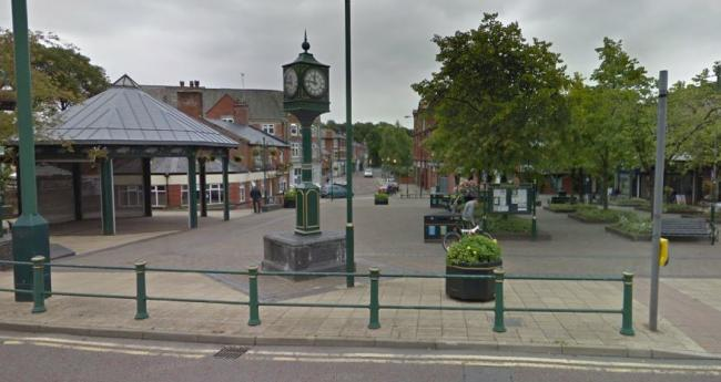 Radcliffe town centre square. Picture, Google Maps