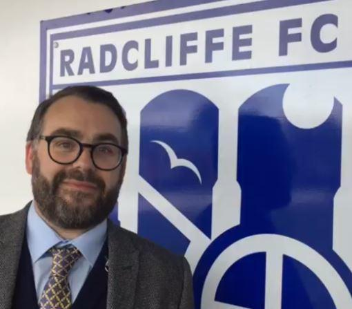 LOOKING FORWARD: Radcliffe chairman Paul Hilton believes his club is on the up