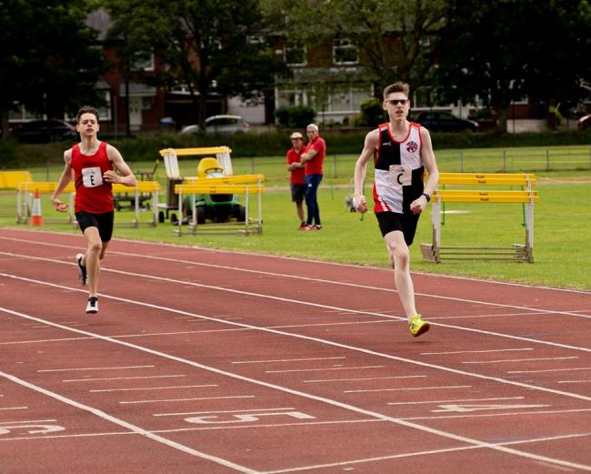 THIRD SPOT: David Vaughan competing over 400m