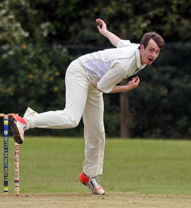 ON FORM: Andrew Rushton bowling for Edenfield