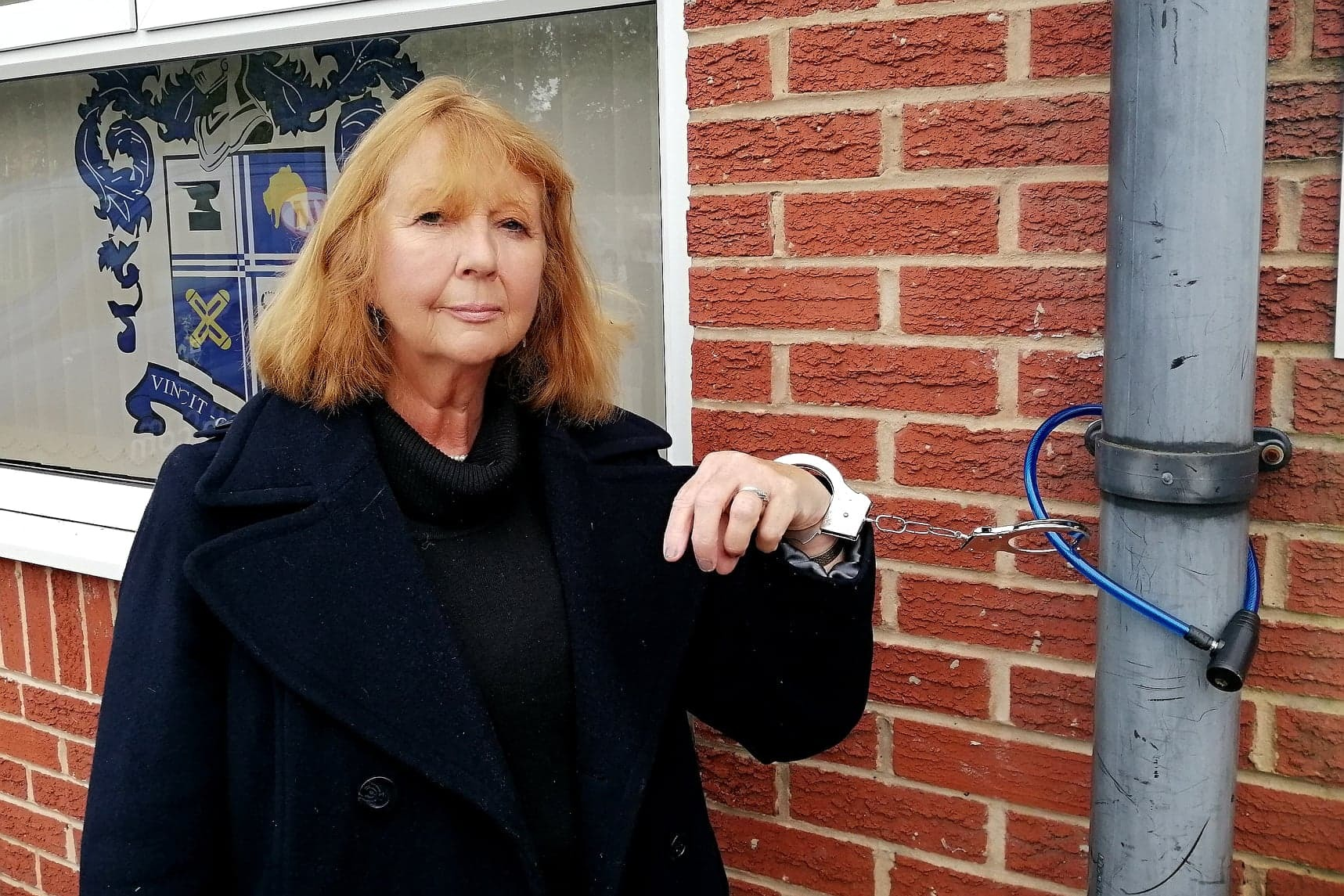 Daughter of Bury FC legend chains herself to Gigg Lane to save Shakers