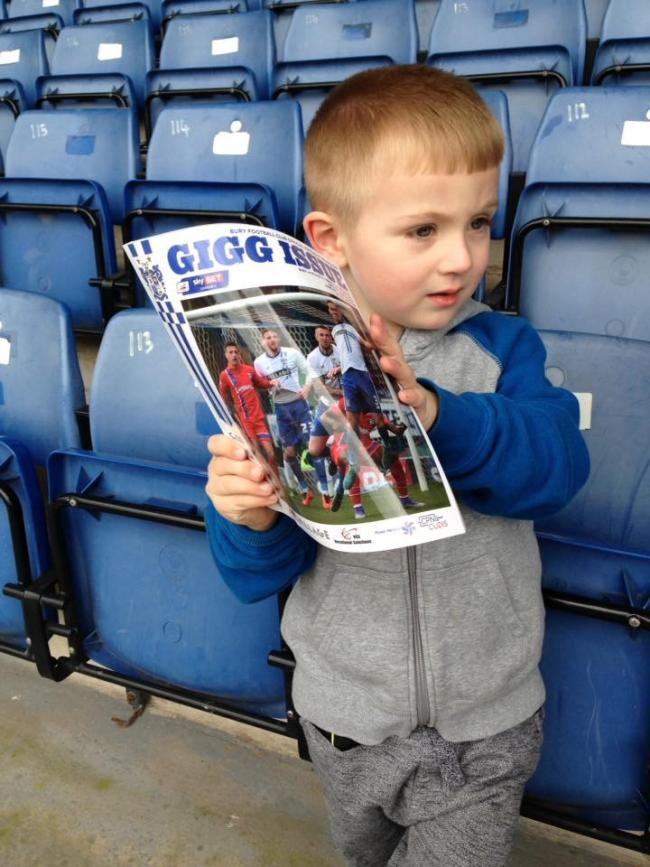 I first went to Bury in the 60's George Jones was my hero. I've now been going to Gigg for 50+ years and have taken my children and now my grandchildren. The photos are of my 3 grandsons (with my eldest in first picture at front celebrating a goal) who also have the Gigg bug. Like me they've seen the ups and downs of this wonderful community football club. We will never be glory hunters, that's for sure.  What's happening is a national disgrace and should not have been allowed to happen by the EFL who are the supposed guardians of the game!