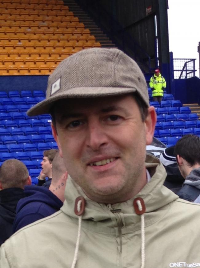 On the pitch at Tranmere. May 2015.