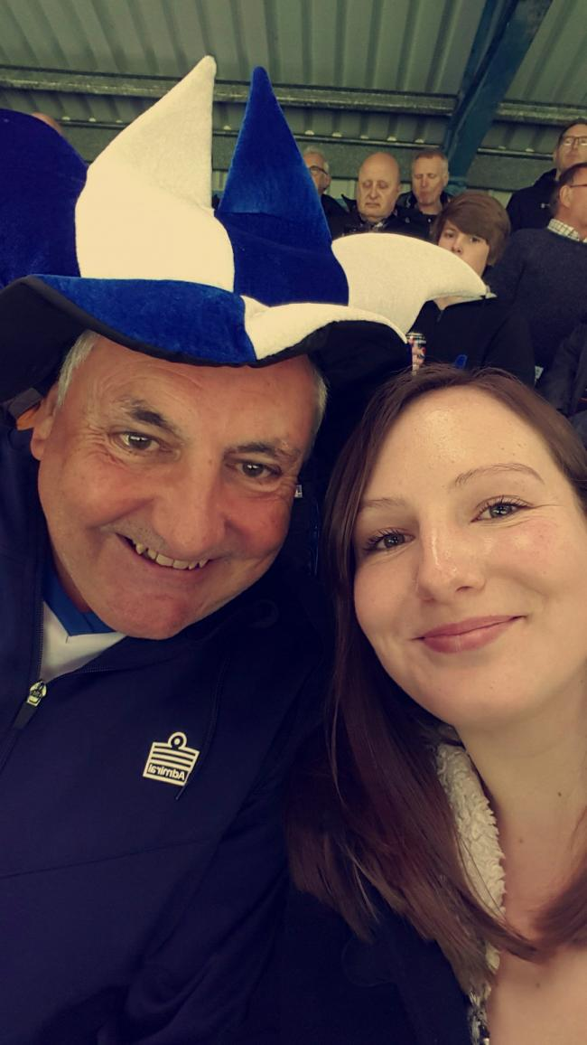 This is me and my dad during the last match last season. My dad has followed bury for many years and hasn't missed a home match for decades! He is a life season ticket holder after donating a large sum of money to the club during previous financial difficulties. He took me to my first match when I just a few weeks old. Bury FC means so much to us both and it is unthinkable that we may not get to spend quality time together at Gigg Lane anymore. Tomorrow is my birthday. I'm hoping to be celebrating still having our loved football club rather than drowning our sorrows.