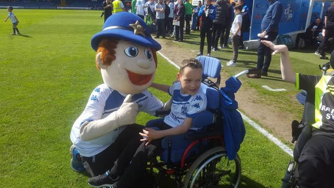 My boy is a mad Bury FC fan here's some of the pictures of his memories he will treasure for ever