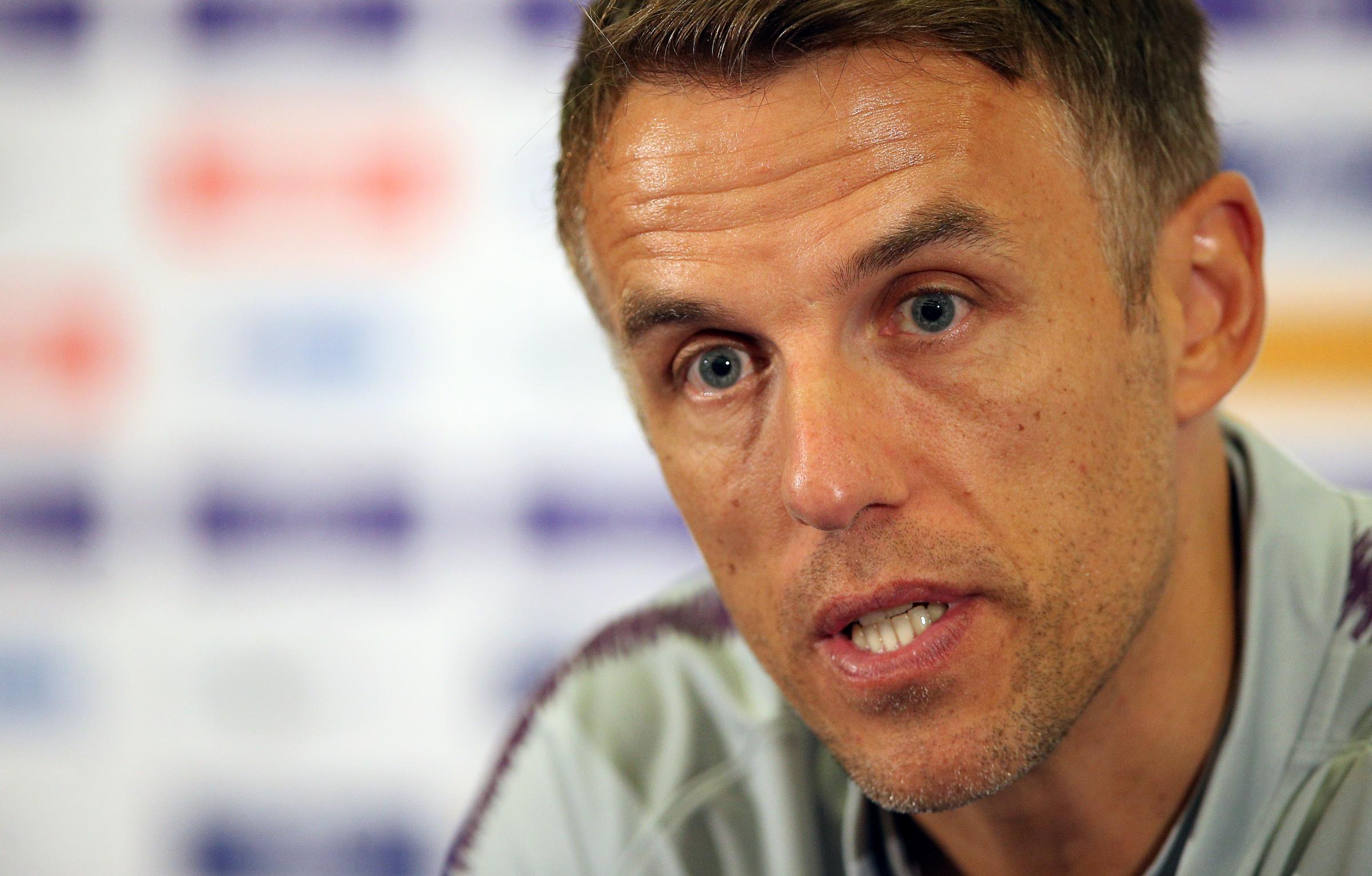 Phil Neville and Ole Gunnar Solskjaer show support for Bury