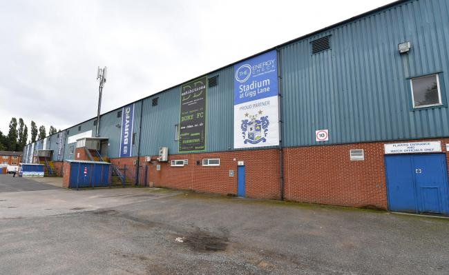 Bury were kicked out of the Football League last August