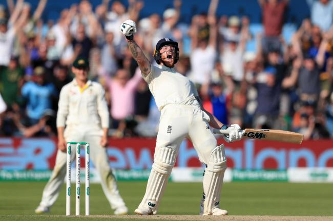 Ben Stokes celebrates England's incredible comeback victory