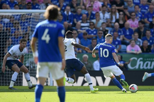 Leicester's James Maddison scores the winner against Tottenham