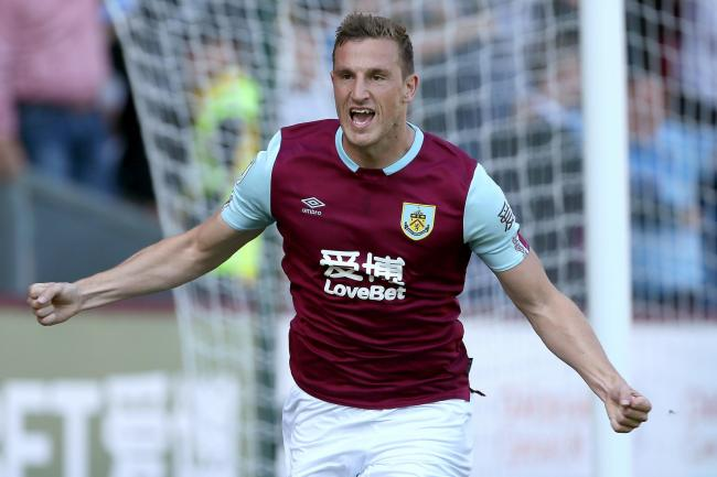Chris Wood celebrates his first goal against Norwich