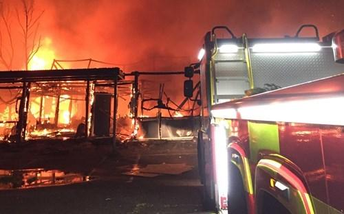 Fire crews are responding to a major fire at a derelict school in Higher Blackley