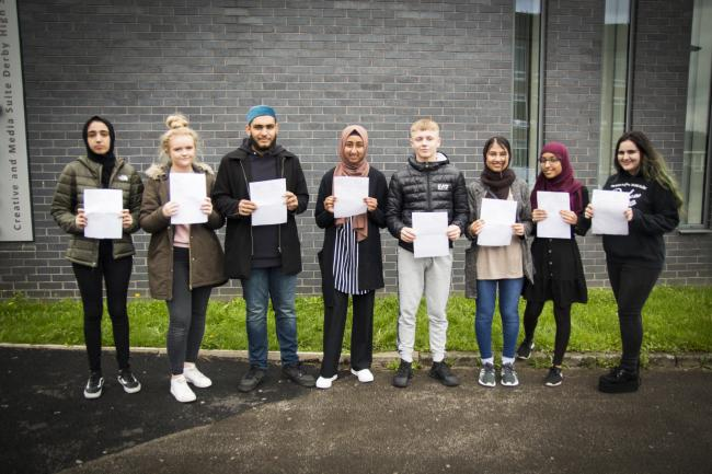 Derby High School pupils celebrate their GCSE results
