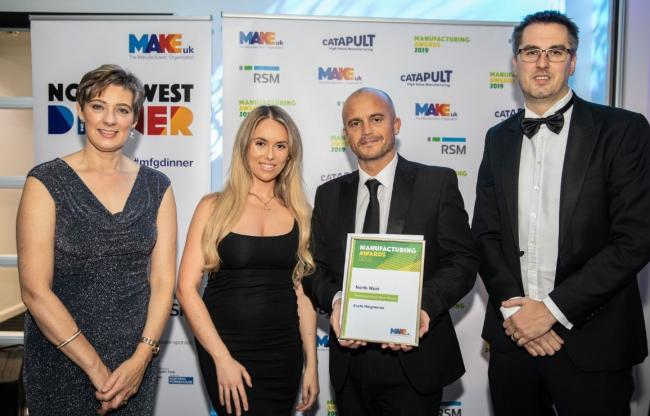 Exyte Hargreaves picked up honours at the Make UK Awards