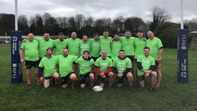 Bury Rugby Union FC's second team wore Samartians t-shirts to raise awareness