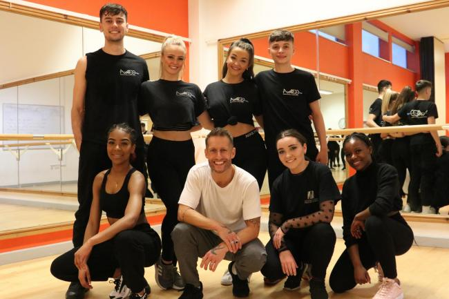 Choreographer Mark Webb visited Bury College Performing Arts students