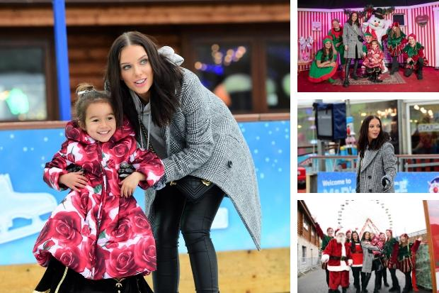 Actress Helen Flanagan has festive day out at M&D's theme park in Motherwell