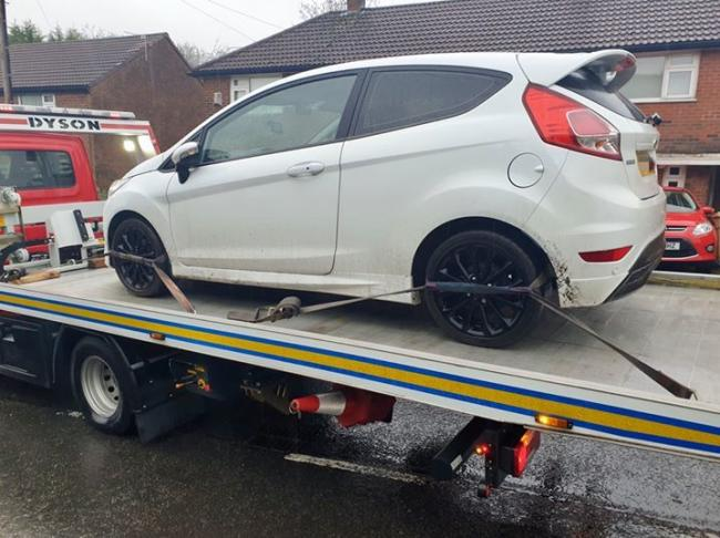 This vehicle has been recovered by police from Deepdale Road, Breightmet