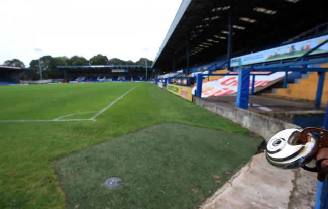 "Gates are locked at Gigg Lane, Bury. C&N Sporting Risk is ""unable to proceed"" with the proposed takeover of Bury, the data analytics company has announced. PRESS ASSOCIATION Photo. Picture date: Tuesday August 27, 2019. See PA story SOCCER B"