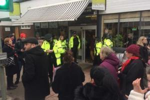 Police at Westhoughton Market