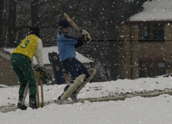 Action from a previous Bury Boxing Day cricket