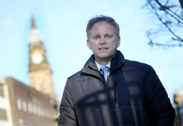 Bury Times: Grant Shapps during a visit to Bolton