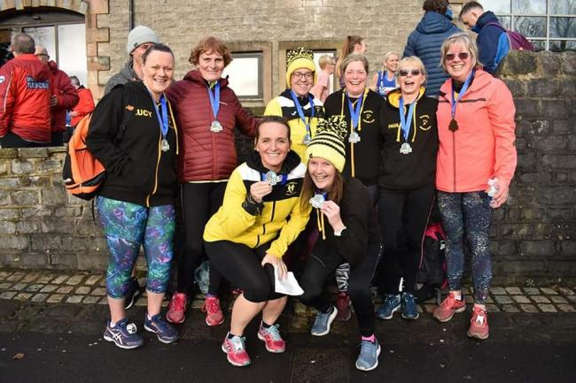 Radcliffe runners at the Ribble Valley 10k