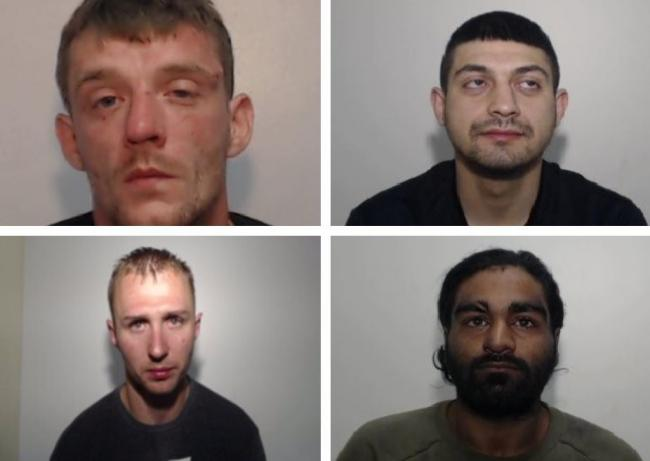 Bury's Most Wanted 8/1/20 (clockwise) Steven John Eccles, Waqar Choudhry, Aurfan Younis and Pawel Marin Brzezinski