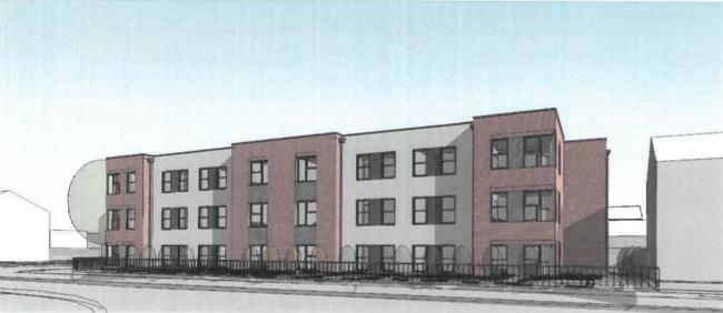 Plans for 15 apartments at the corner of Spring Lane and Bury Road, Radcliffe by Bolton At Home