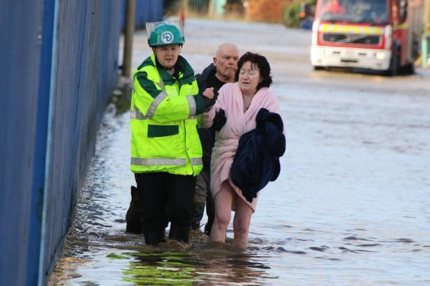 FLASHBACK: The floods devastated the Warth Road area, as part of Storm Ciara, last weekend