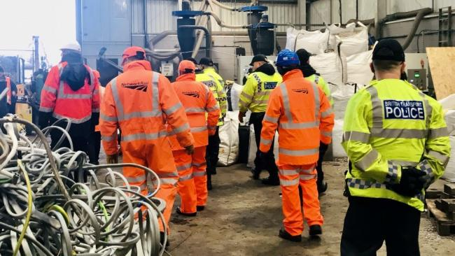 Police and rail officials have been conducting surprise visits at Greater Manchester scrap yards to combat metal thefts on the network