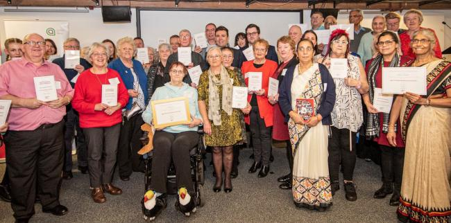 Representatives receive their age-friendly awards