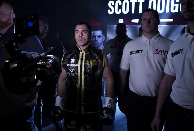 Scott Quigg enters the Manchester Arena for the final time