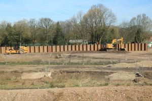 DEFENCES: Construction work on the Radcliffe and Redvales Flood Alleviation Scheme