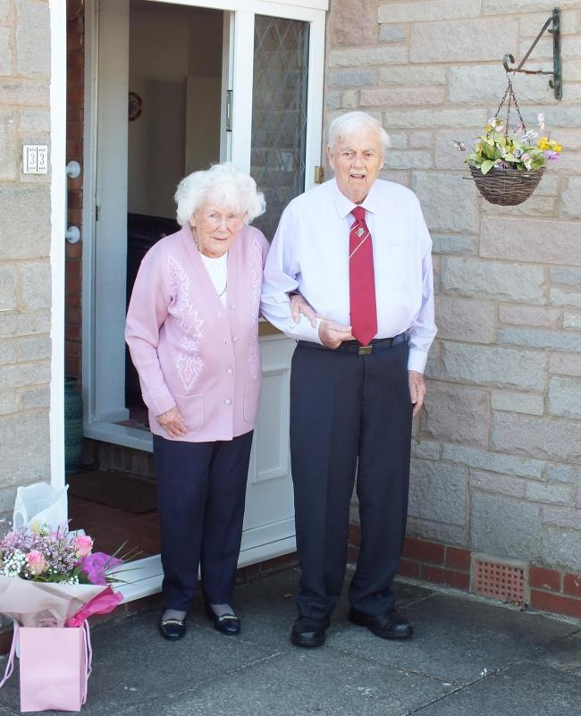 Tom and Vilma Hitchen from Greenmount who are celebrating their platinum wedding anniversary