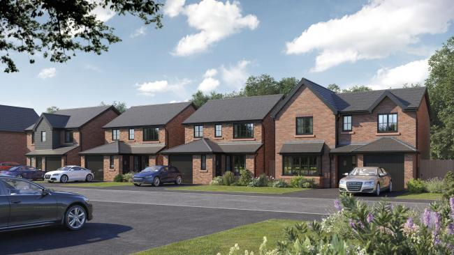 An artist's impression of the Bellway Homes scheme for The Mount Heath site in Prestwich