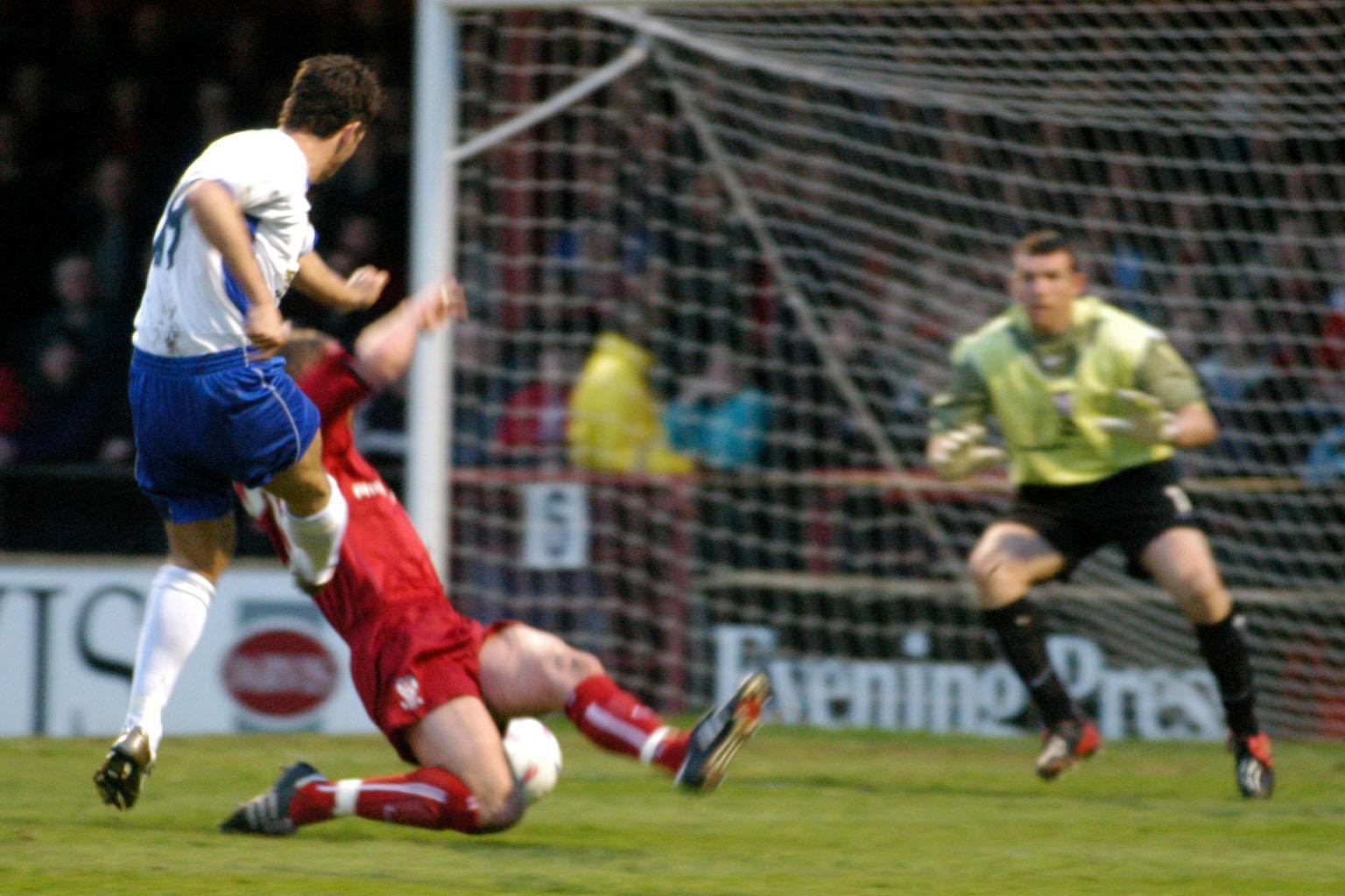 Bury FC through the years: Gareth Seddon scores his final Shakers goal
