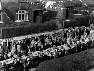 Bury Times: VE Day party Ringwood Avenue, Bury (Picture: Bury Olden Days Facebook group)