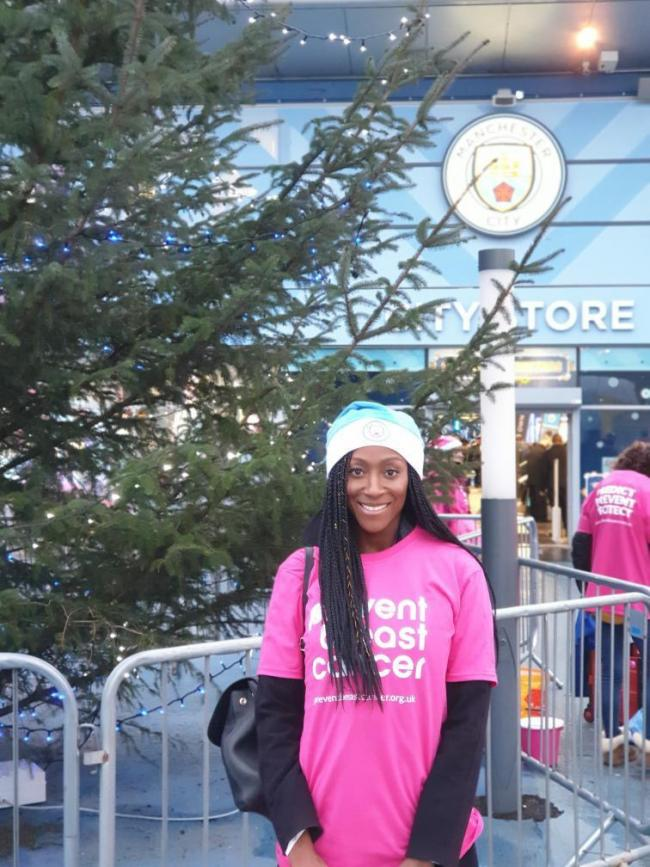 Bury-born Corrie star Victoria Ekanoye has launched a breast cancer appeal