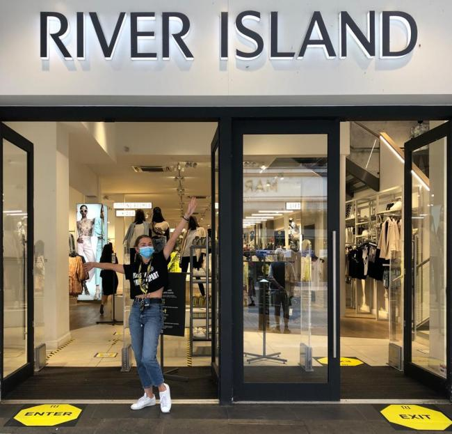 Helen Griffiths at River Island says; 'stores are quieter than normal with everyone following the safety rules'