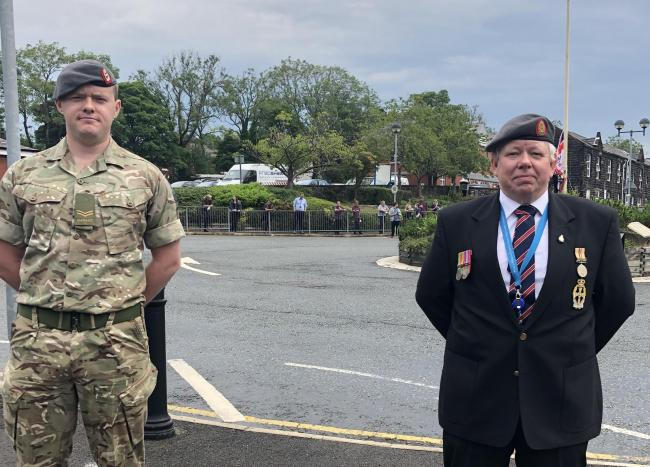 John Thornhill, Reservist and ICU Nurse alongside Allan Cordwell, former reservist and Head of Emergency Planning for the Northern Care Alliance