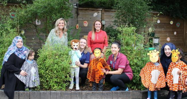 Kids Planet nursery youngsters and staff go wild for Summer Stampede campaign for Chester Zoo