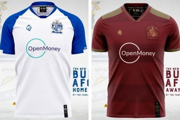 Bury AFC unveil first ever home and away shirts with special feature