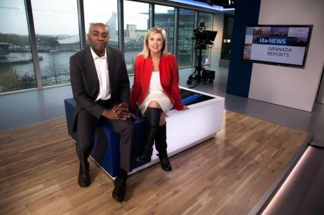 Tony Morris and Lucy Meacock presenting Granada Reports