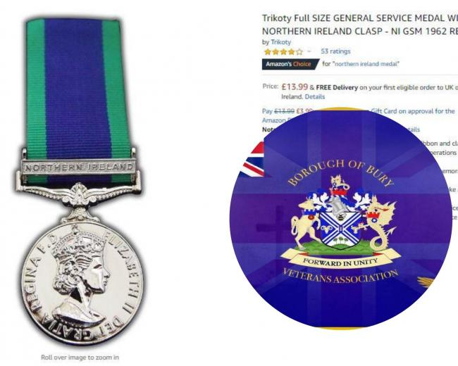 One of the replica war medals available on Amazon