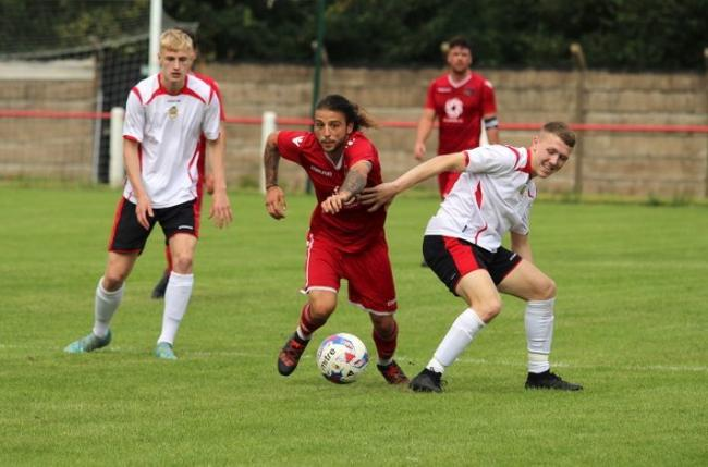 OPENING: Nathan Emery looks to break for Heys. Pictures: Beth Lee