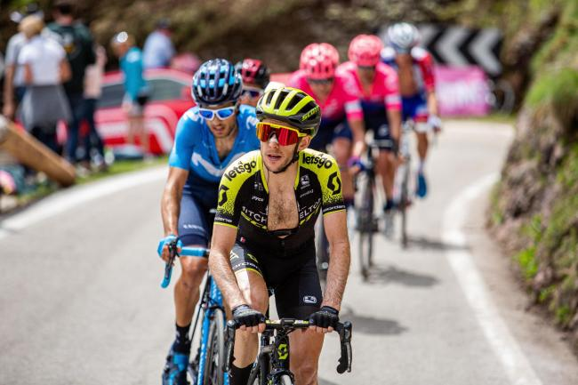 Simon Yates, pictured in last year's Giro d'Italia, wants the pink jersey on his return this year