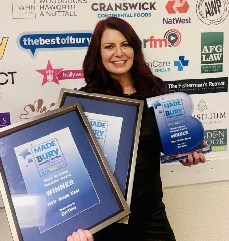 Nicola Wood, of Hair Made Easi, a former Made In Bury business awards winner, is now in the running for a Hairdresser of the Year innovation prize