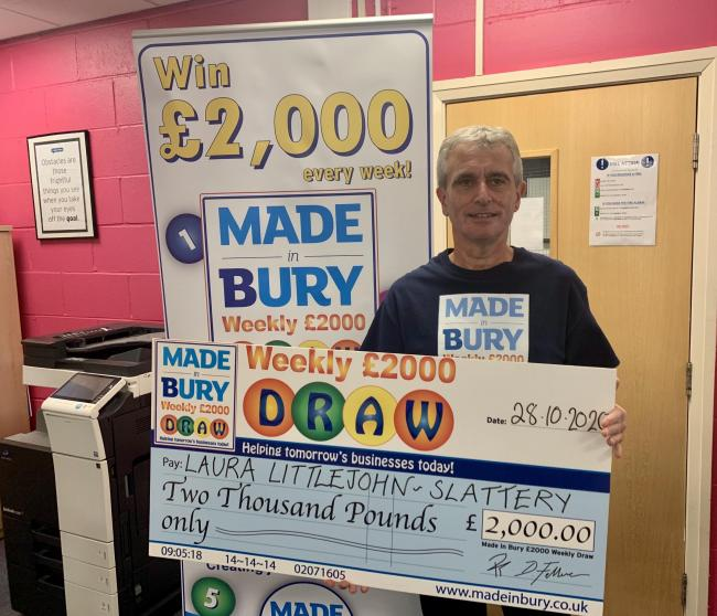 Laura Littlejohn was this week's Made in Bury prize draw winner
