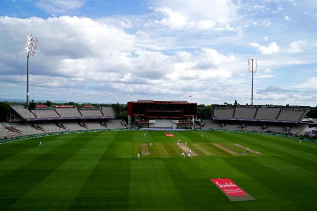 A general view of the action during day two of the Second Test at Emirates Old Trafford, Manchester..