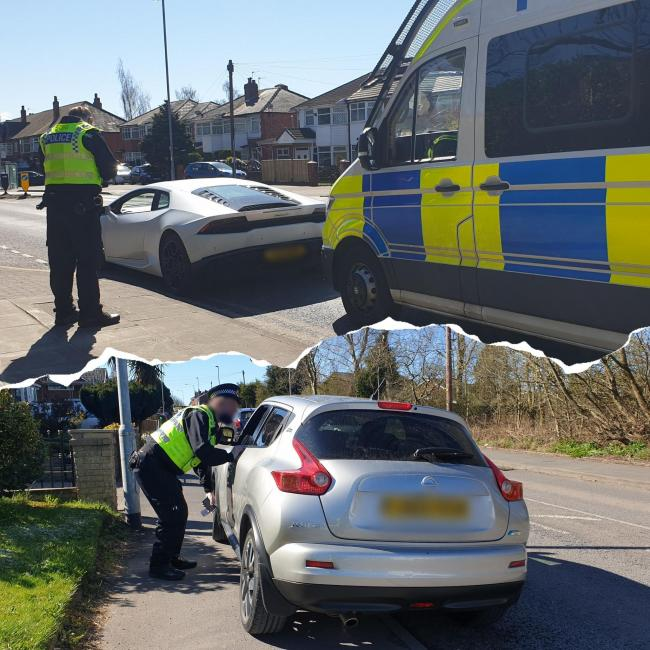 Police conducting speed enforcement in Bury